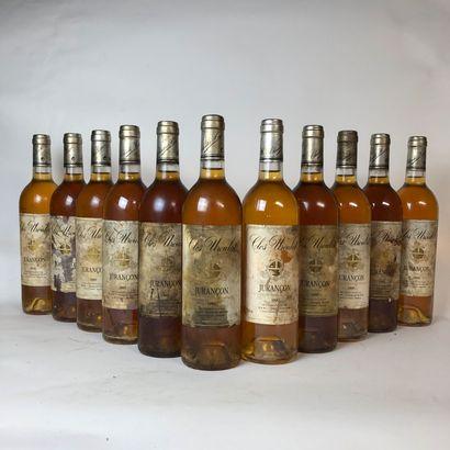 12 bouteilles JURANÇON 1995 Clos Uroulat...