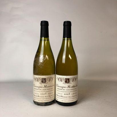 2 bouteilles CHASSAGE-MONTRACHET 2005 1er...
