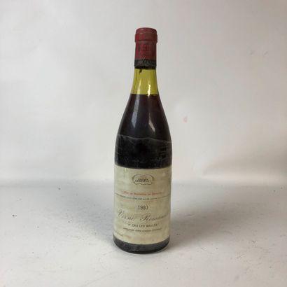 1 bouteille VOSNE-ROMANÉE 1980 1er cru