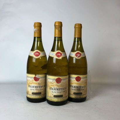 3 bouteilles HERMITAGE 1998 E.Guigal (étiquettes...