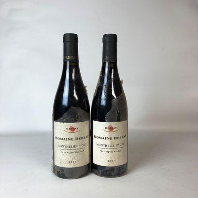 2 bouteilles MONTHELIE 2007 1er cru