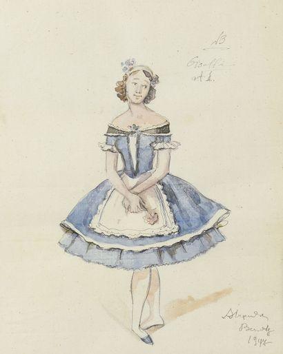 BENOIS ALEXANDRE (1870-1960)  Dessin de costume...