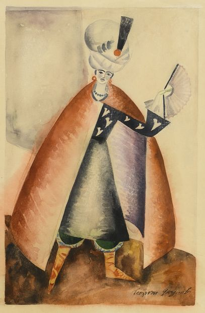 YAKULOV GEORGII (1884-1928)  Projet de costume...