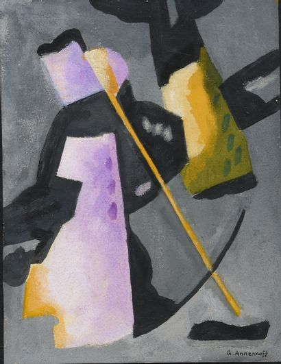 ANNENKOFF GEORGES (1889-1974)  Abstraction...