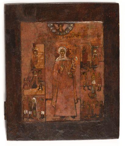 Icône «La légende de sainte Paraskeva»  Russie,...