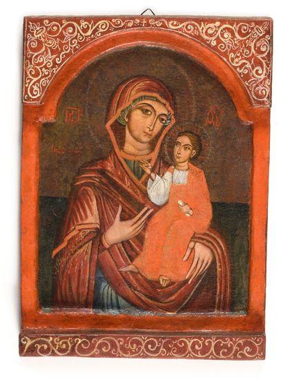 Icône « La Mère de Dieu Odigitria »  Grèce,...