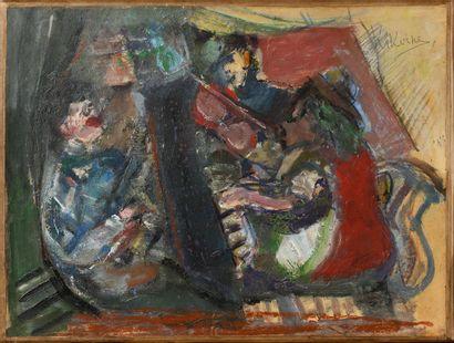 KIKOIN MICHEL (1892-1968)  Leçon de piano...