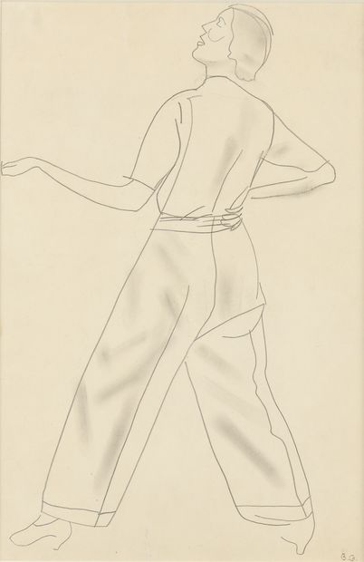 GRIGORIJEFF BORIS (1886-1939)  Portrait de...