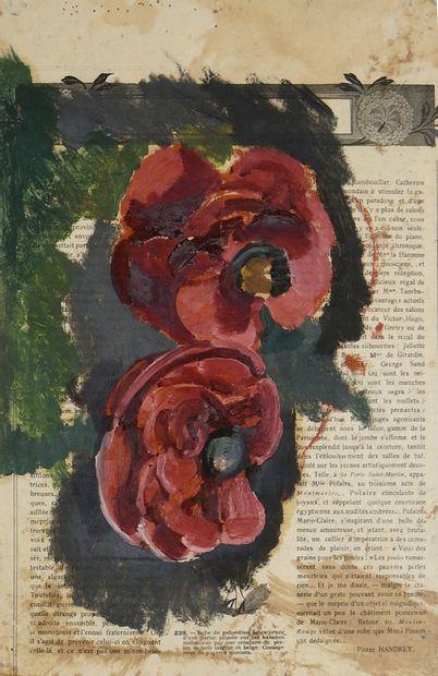 TARKHOFF NICOLAS (1871-1930)  Deux pivoines...