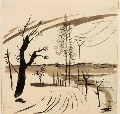 DOBUZINSKIJ Mstislav (1875-1957)  Paysage...