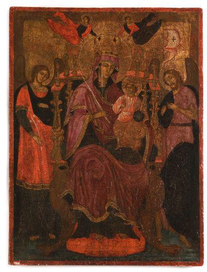Icône «Vierge Marie Odigitria, Archange Gabriel,...