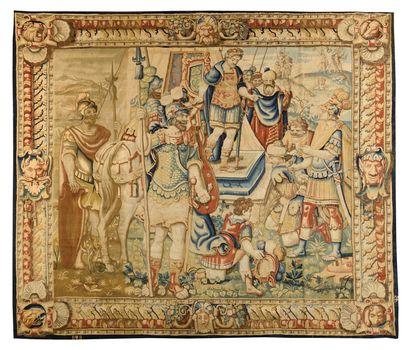 TRES RARE PANNEAU DE BRUXELLES ( FLANDRES) DE LA FIN XVIE-DEBUT XVIIE SIECLES Joseph...