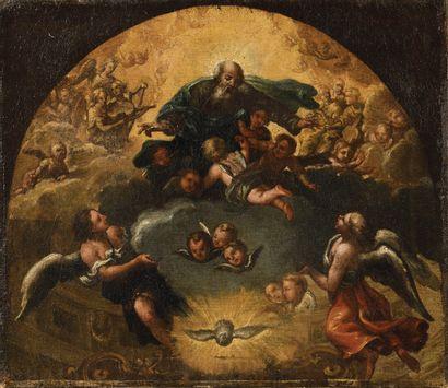 ECOLE ROMAINE DU XVIIE SIECLE Dieu le père...