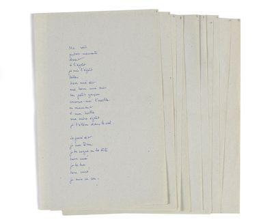 BATAILLE (Georges). Manuscrit autographe...