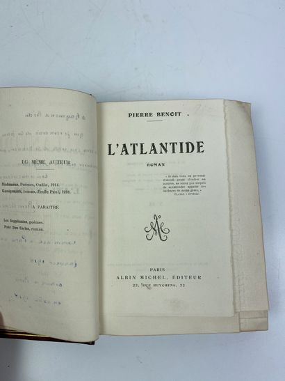 BENOIT (Pierre). L'Atlantide. Paris, Albin...