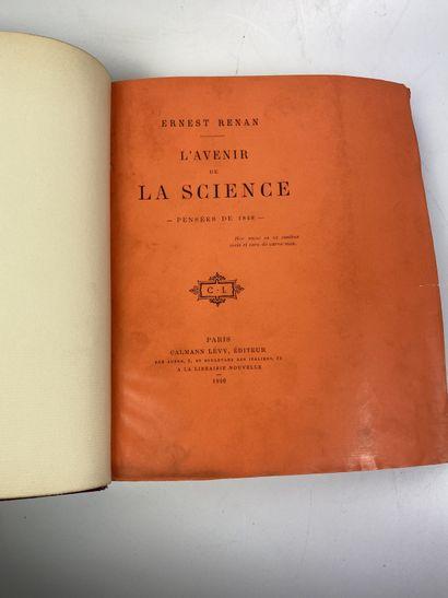 RENAN (Ernest). L'Avenir de la science. Pensées...