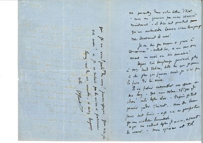 FLAUBERT (Gustave). Lettre autographe signée [à Ivan Tourguéniev]. [Croisset], 30...