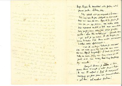 FLAUBERT (Gustave). Lettre autographe signée à [Ivan Tourguéniev]. [Croisset], «...