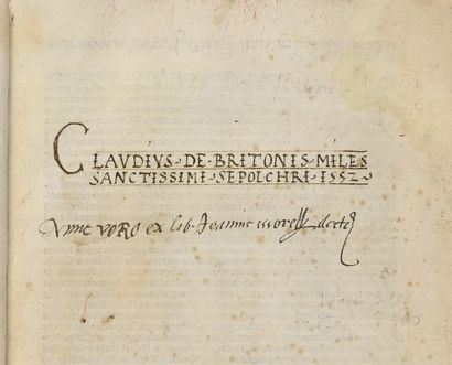 INCUNABLE. – PLATINA (Bartolomeo Sacchi da)....