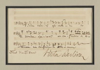 BERLIOZ (Hector). Manuscrit musical autographe...