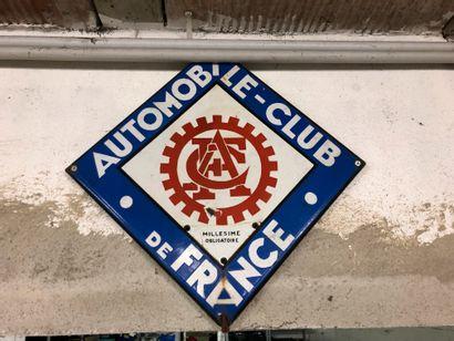 PLAQUE EMAILEE AUTOMOBILE CLUB DE FRANCE