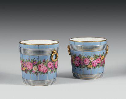 PARIS Paire de cache-pots cylindriques en...