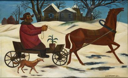 KULINICH Anatolij (1949)  Scène russe  Huile...