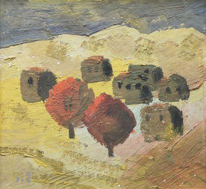 MIRZASHVILI Tengiz (1934-2008)  Paysage  Huile...
