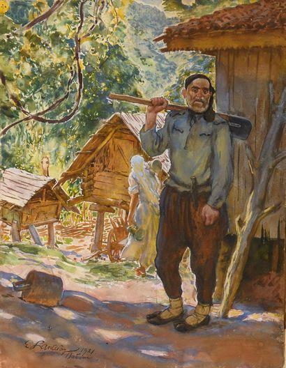 LANCERAY Eugene (1875-1946)  Batoum  Gouache...