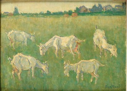 PORTNOFF MICHEL (1885-1978)  Les Chèvres...