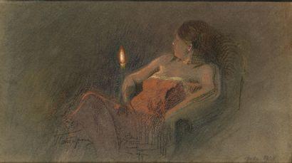 PASTERNAK Leonid (1862-1945)  Femme avec...