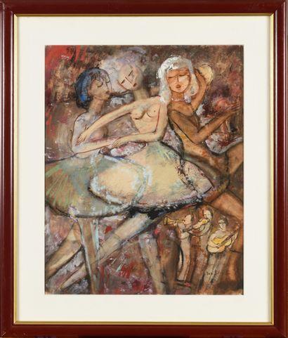 SOLOJOFF Dan (1908-1994)  Les Danseuses  Gouache...