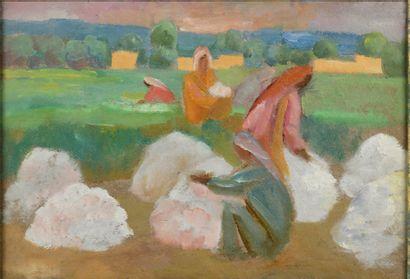 KARAHAN NICOLAJ (1900-1970)  Les Ramasseuses...