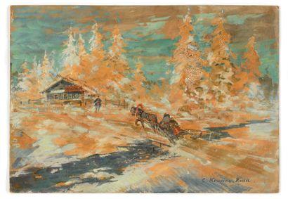 KOROVIN KONSTANTIN (1861-1939)  Charrette...