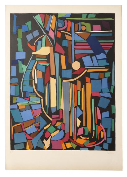 LANSKOY Andre (1902-1976)  Abstraction  Lithographie...