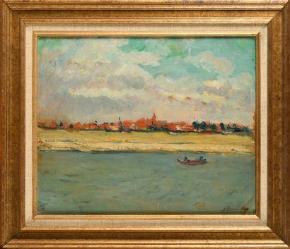 DANNENBERG ALICE (1861-1948)  Dieppe  Huile...