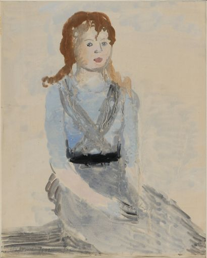 SAFRONOVA ANTONINA (1892-1966)  Fille en...