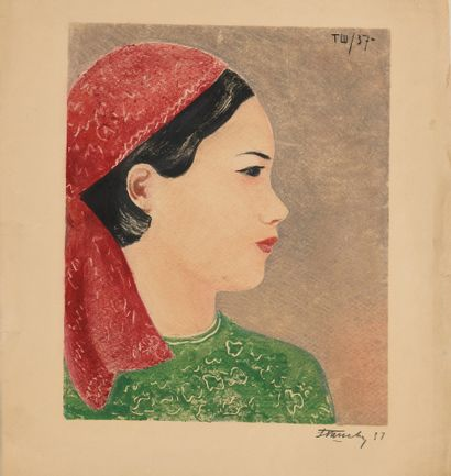 CHEVTCHENKO TATYANA (1911-1993)  Femme tatare...