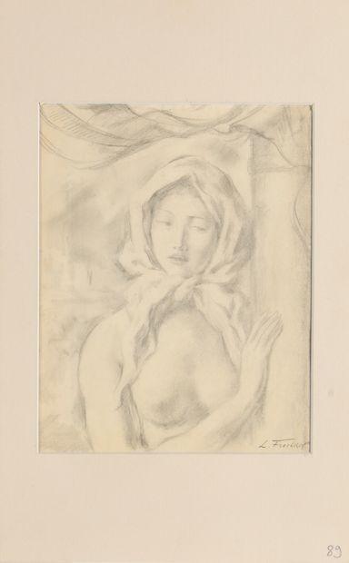 WOULFART MARIUS (1905-1991)  Portrait d'une...