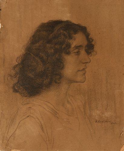 KASATKIN NIKOLAÏ (1859-1930)  Portrait d'une...