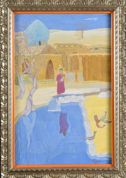 KASHINA Nadezhda (1896-1977)  Cour en Ouzbékistan...