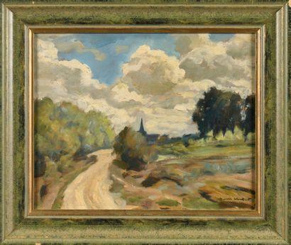 WOULFART MARIUS (1905-1991)  Paysage  Huile...