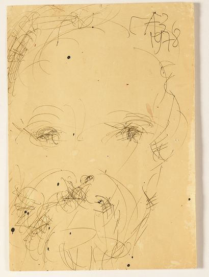 ZVEREV Anatoly (1931-1986)  Portrait du peintre...