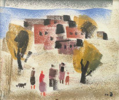MIRZASHVILI Tengiz (1934-2008)  Paysage  Gouache...