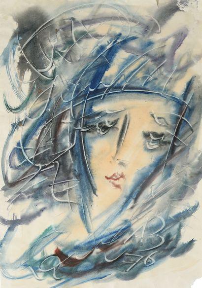 ZVEREV ANATOLY (1931-1986)  Portrait d'une...