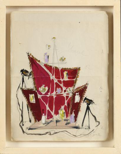 BOUCHENE DIMITRI  (1893-1993)  Projet pour...