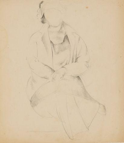 PASTUKHOV PAVEL (1889-1960)  Femme  Dessin...