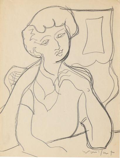FRECHKOP LEONIDE (1897-1982)  Jeune femme...