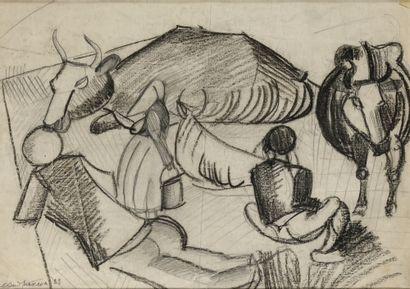 ENDRIKSON EVGENYA (1907-1994)  Les Vaches...