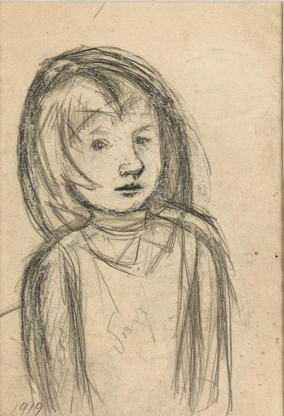 PESTEL VERA (1886/87-1952)  Portrait d'une...